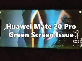 Huawei Mate 20 Pro Green Screen Issue
