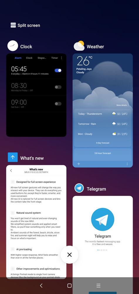 MIUI 10 screenshots