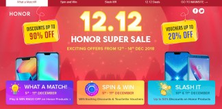 12.12 Honor Super Sale 2018