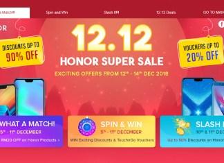 12.12 Honor Super Sale 2018