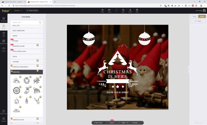 Create Beautiful Christmas Cards with Fotor 3