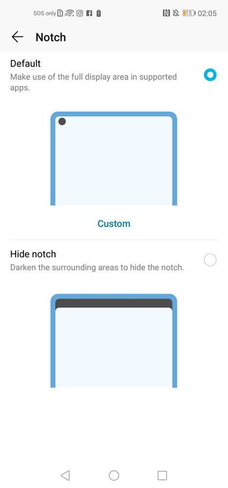 HONOR View20 hide notch