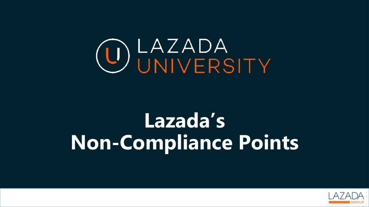 Lazada Adds Non-Compliance Points To Seller Policies