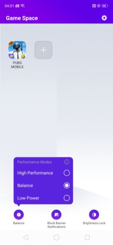 OPPO R17 Pro Game Space