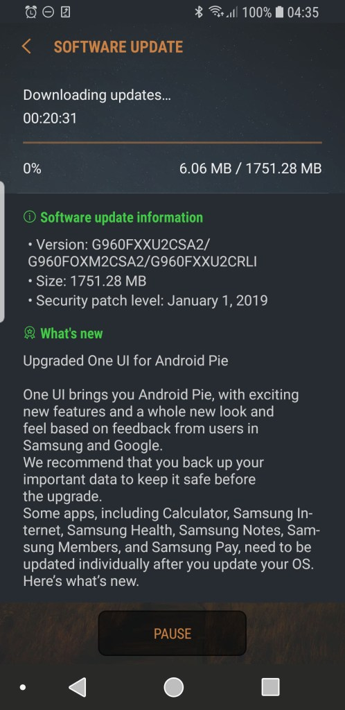 Samsung Galaxy S9 Android 9.0 Pie One UI Malaysia