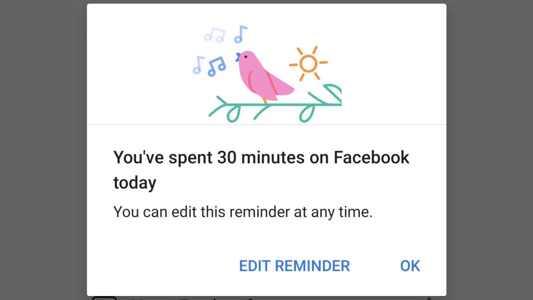 Facebook timer alarm