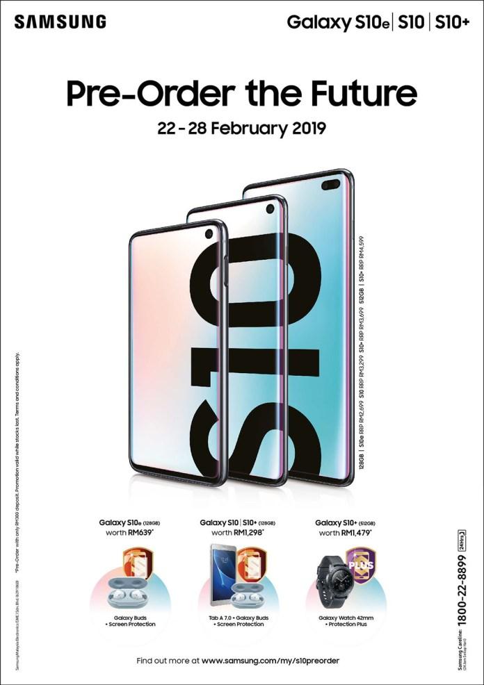 Samsung Malaysia Galaxy S10+ Galaxy S10 Galaxy S10e preorder
