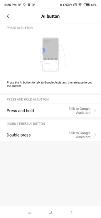 Xiaomi Mi Mix 3 AI button customization