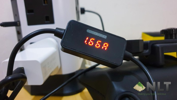 CHOETECH USB-C Cable with Current Voltage Multimeter (1m)
