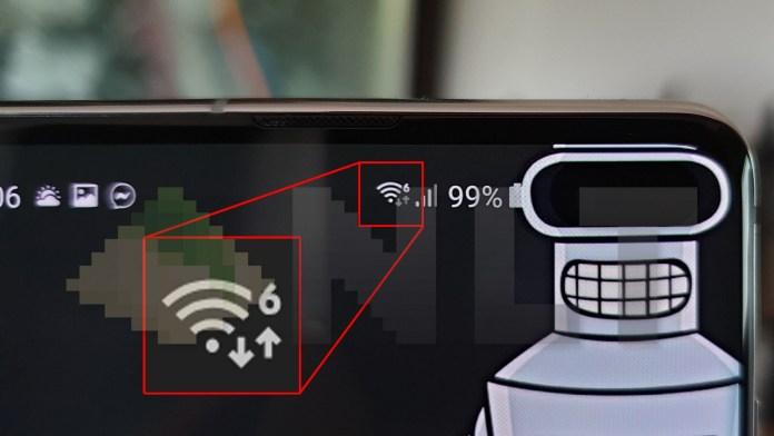 WiFi 6 icon on Samsung Galaxy S10 Galaxy S10+ (5)