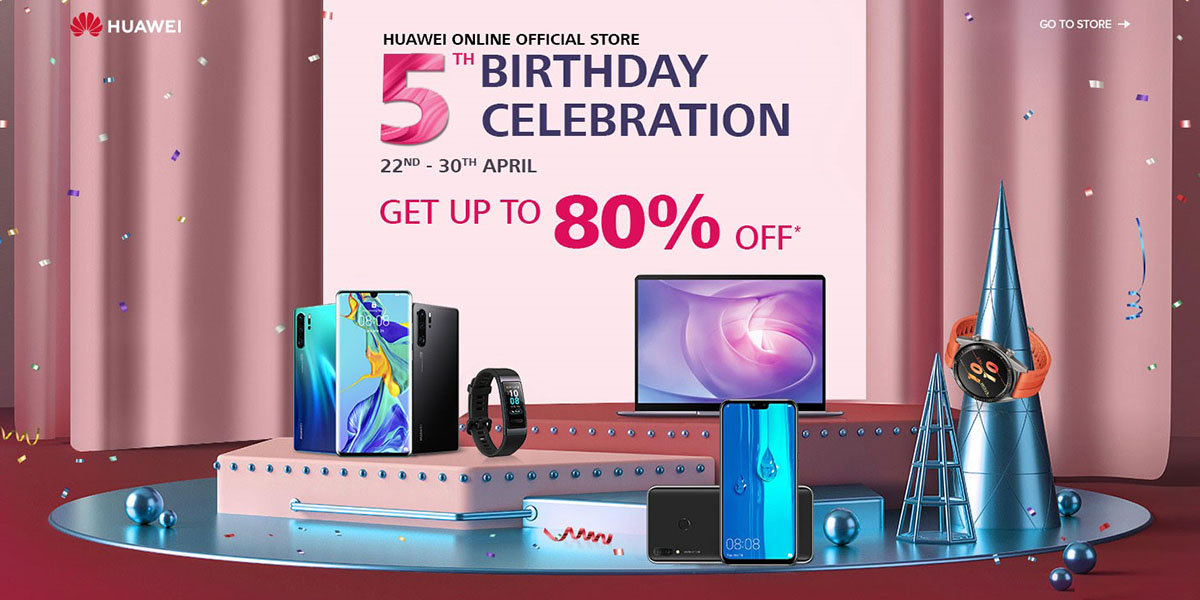 Huawei Online Store celebrates 5th birthday with fantastic deals
