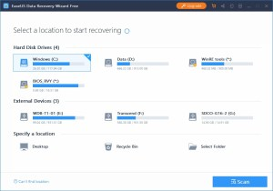 Review - EaseUS Data Recovery Wizard (Free Version) 2