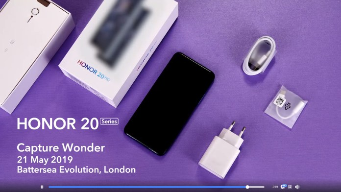 HONOR 20 unboxing teaser