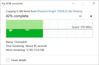Phidisk PhantomKnight copy to SSD