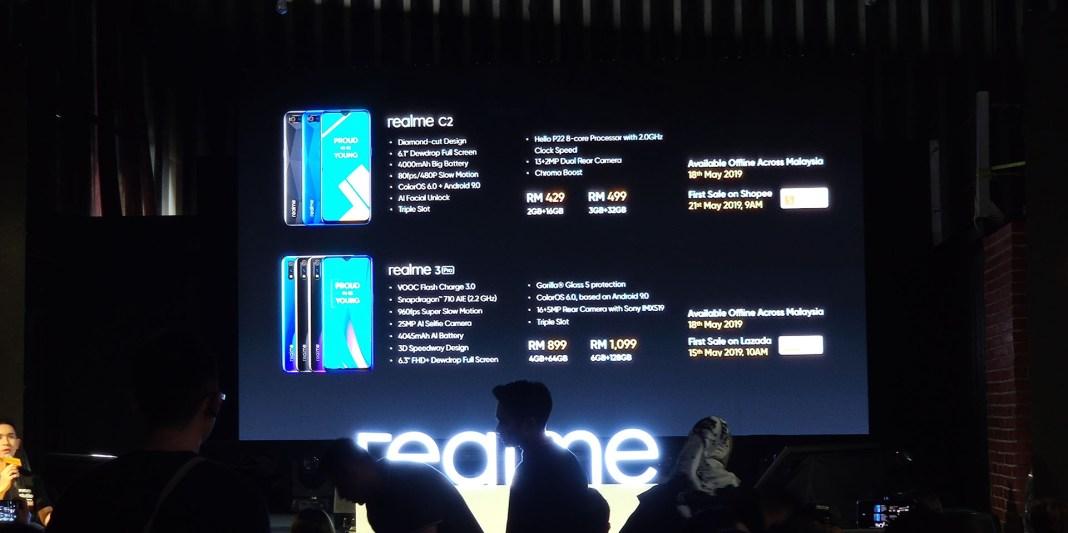 Realme 3 Pro Realme C2 launching