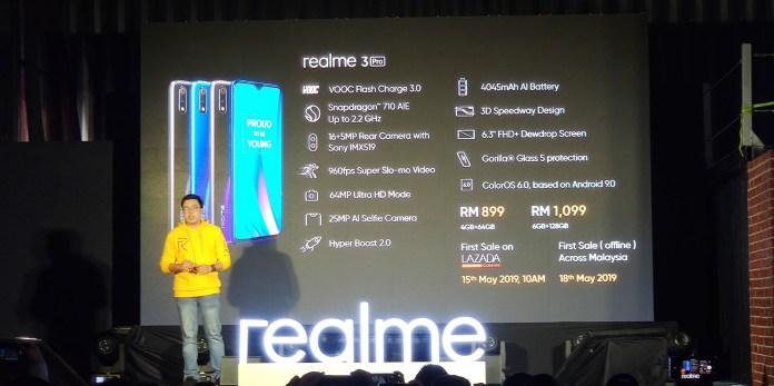 Realme 3 Pro launching