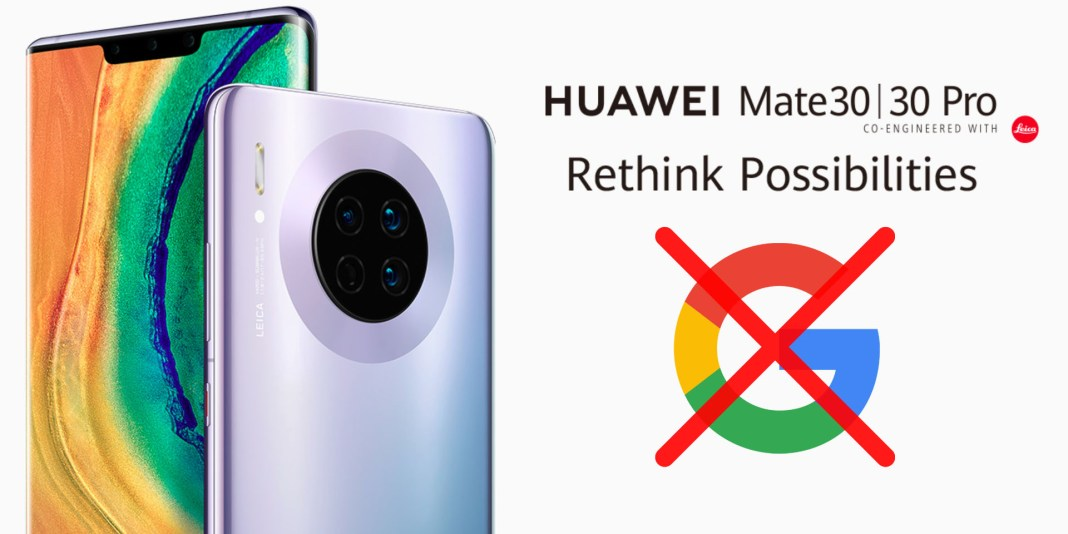 Huawei Mate 30 series no Google apps and services