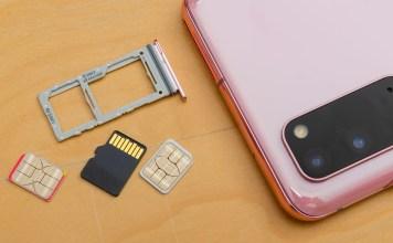 Samsung Galaxy S20 two SIM + microSD card