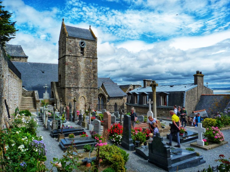cemetary in mont saint michel