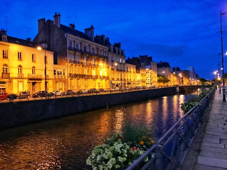 Rennes By Night France Fransa