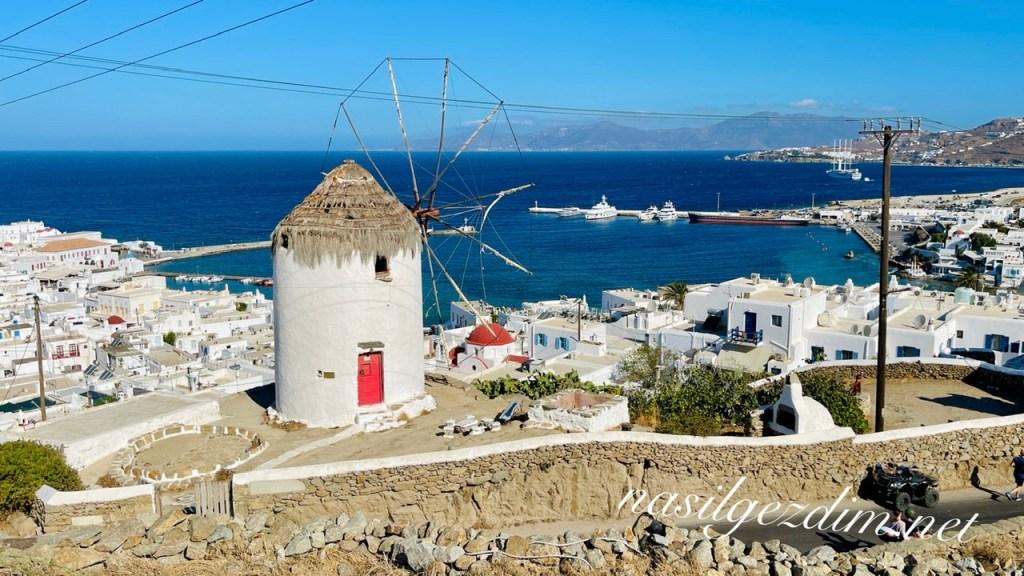 mykonos gezilecek yerler, mykonos gezi rehberi, boni's windmill, mykonos gezi notları