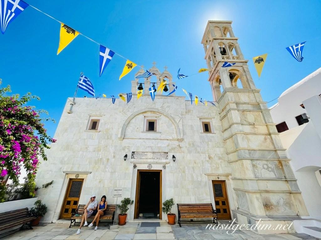 mykonos gezilecek yerler, the monastery of panagia tourliani, panagia tourliani manastırı