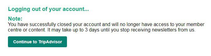 delete tripadvisor account