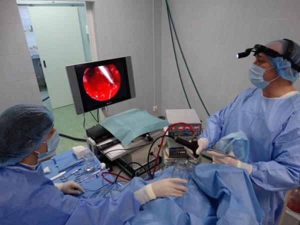 Эндоскопическаяаденомэктомия - проведение операции