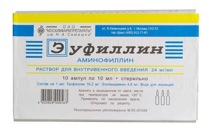 Эуфиллин для ингаляций инструкция