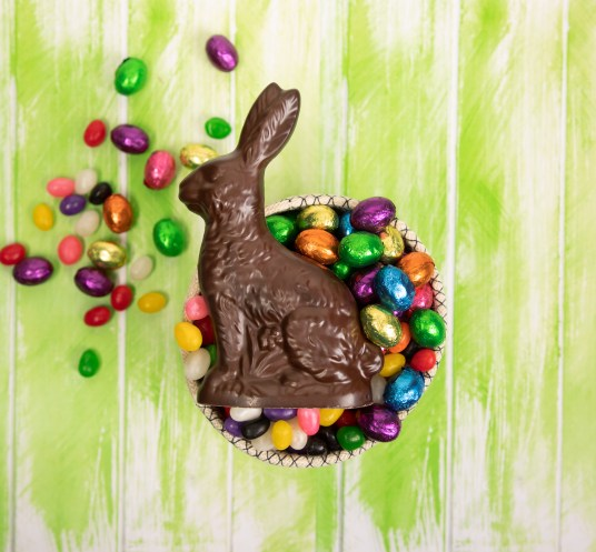Easter candy, Easter bunny, chocolate bunny, Easter basket, jelly beans, chocolate eggs,