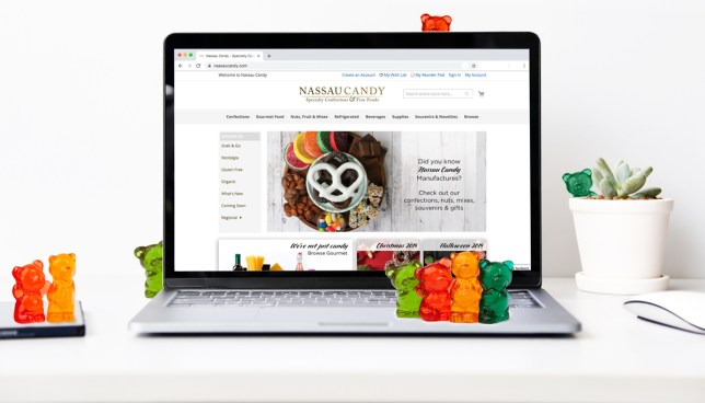 Gummy bears, online candy sales, online sales