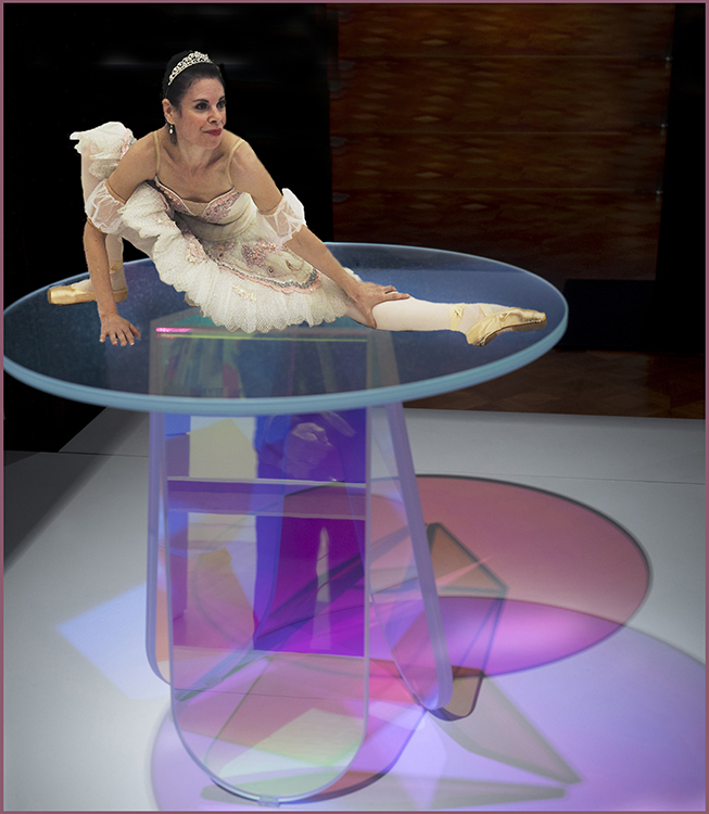 Judi Feinman  -Dancer on Iradescent Table Creative IOM