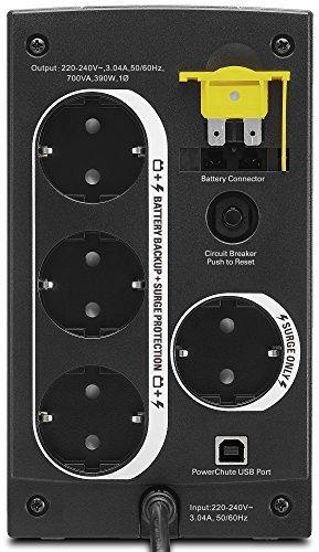APC Back-UPS BX - Unterbrechungsfreie Stromversorgung 700VA, BX700U-GR (AVR, 4 Schuko Ausgänge, USB) schwarz - 5