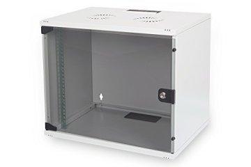 DIGITUS Professional 7HE Netzwerk Wandgehäuse – Robuster Wandschrank der SOHO Compact-Serie für Netzwerk-Komponenten - 1