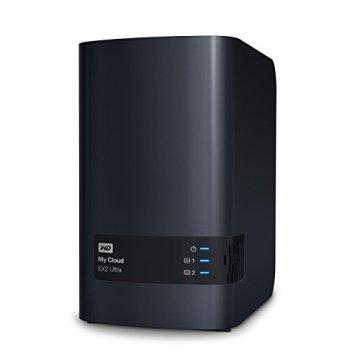 WD My Cloud EX2 Ultra 6 TB - Network Attached Storage - 2 Bay NAS - Streamen auf PC, Mobilgeräte, Spielkonsolen, Mediaplayer - WDBVBZ0060JCH-EESN - 2
