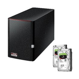 Buffalo LinkStation 520D NAS System 2-Bay 6TB inkl. 2x 3TB Seagate ST3000VN007