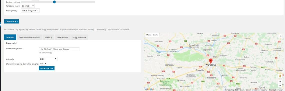 Wordpress - Mapy Google w WordPress