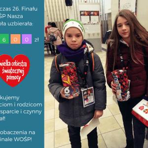 Podsumowanie udziału Naszej Szkoły w 26. Finale WOŚP!