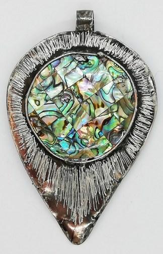 wisior z muszli abalone