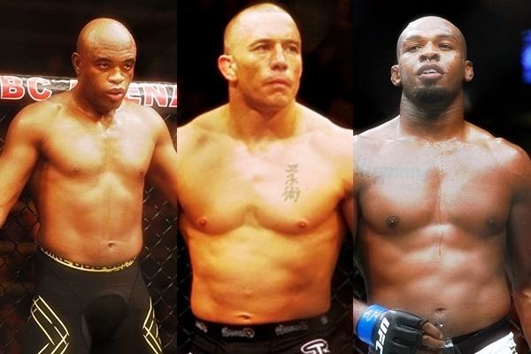 Jon Jones Georges St-Pierre Anderson Silva