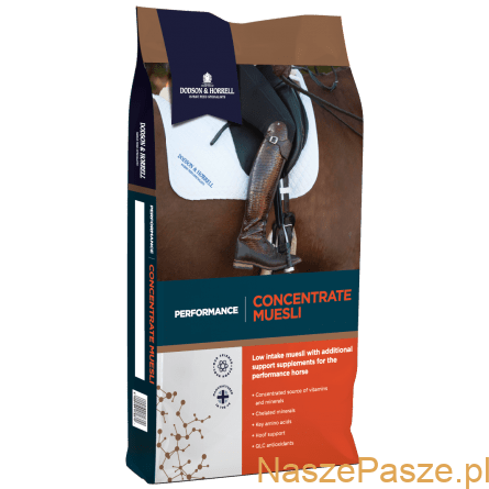 D and H Performance Concentrate Muesli NEW 3D 1