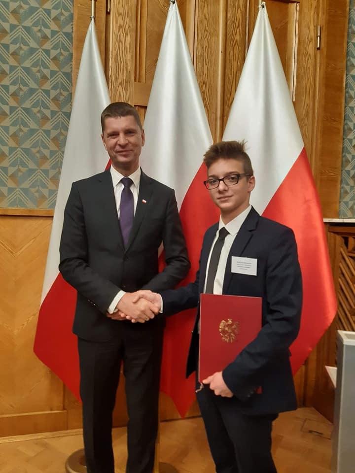 Wojciech Michalski, 14-latek ze Śremu został zastępcą członka Rady Dzieci i Młodzieży Rzeczypospolitej Polskiej przy Ministrze Edukacji Narodowej
