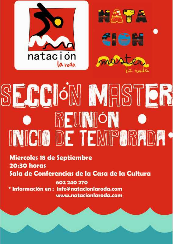 Reunion informativa Sección Master Club Natación La Roda
