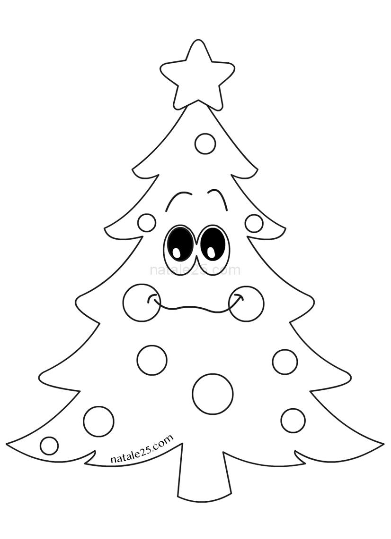 Questo albero di natale da stampare e colorare ha un'altezza di circa 22 cm ed una larghezza di quasi 17 cm. Albero Di Natale Mascotte Da Colorare Natale 25