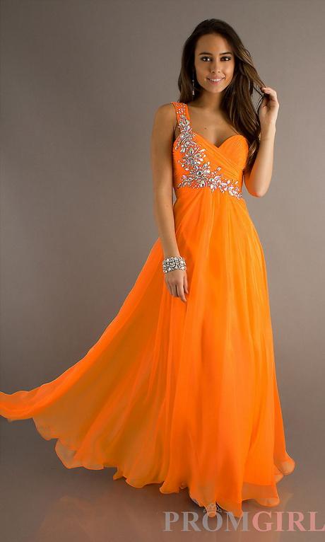 Orange High Low Dresses