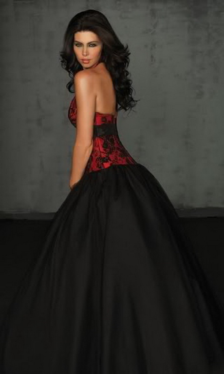 Red And Black Short Prom Dress