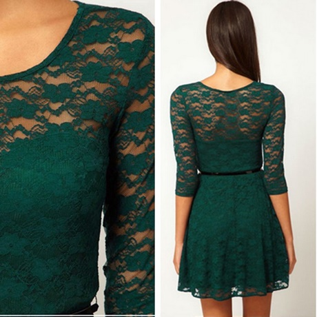 Asos long sleeve lace midi prom forest green dress dresses