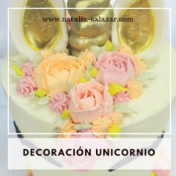 decoración unicornio buttercream