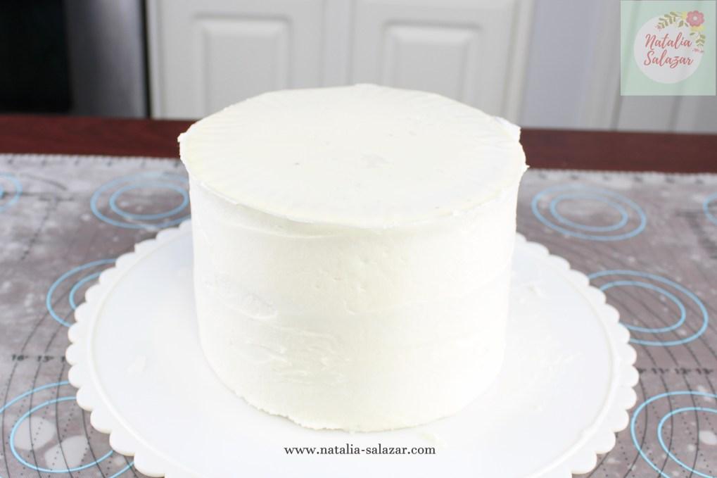Cake de vainilla decorado