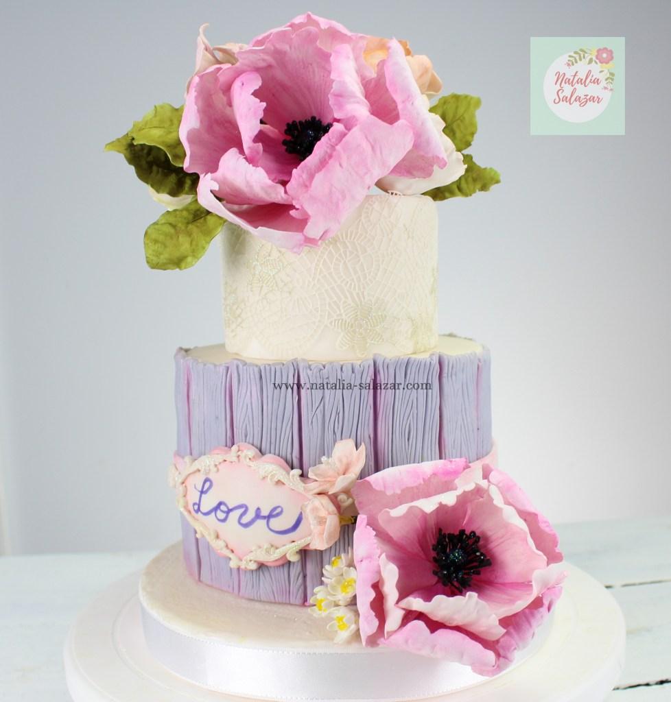 Vintage cake. flores de azúcar